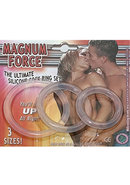 Magnum Force The Ultimate Silicone Cock Ring Set 3 Sizes...