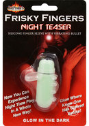 Frisky Fingers Night Teaser Silicone Finger Sleeve With...