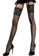 Glitter Lace Top Fishnet Thigh High