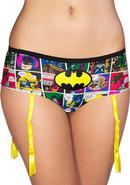 Batman Comic Strip Panty W/ Garter-small