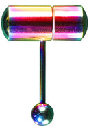 Lix Oral Vibrator Rainbow Anodized
