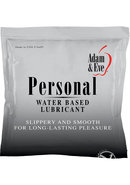 Adam And Eve Personal Water Based Lube Foil Pack 2.5...