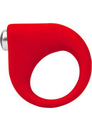 Hard On Vibrating Silicone Cock Ring Waterproof Red