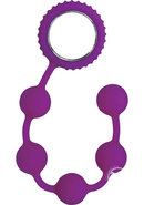 Sinful Anal Beads Silicone Purple 12 Inch