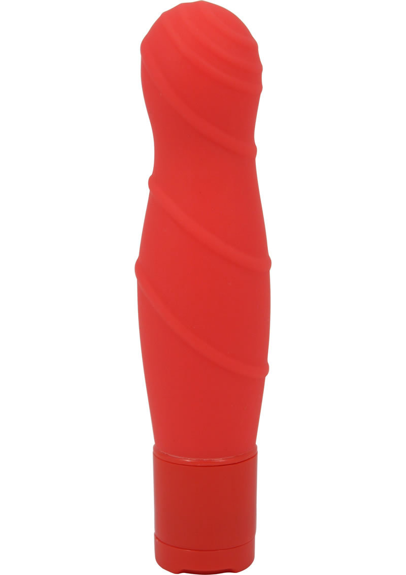 Pure Carress Multi Speed Silicone Vibe Waterproof Coral 4.25 Inch