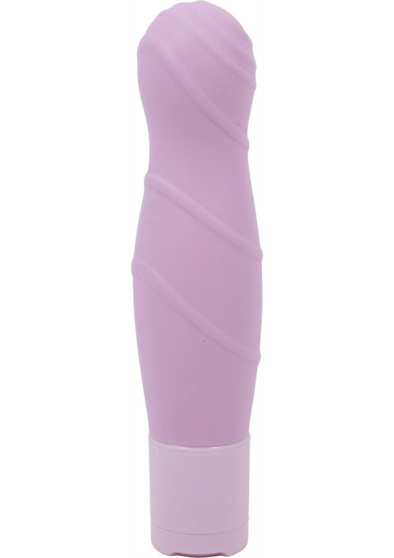 Pure Carress Multi Speed Silicone Vibe Waterproof Lavender 4.25 Inch