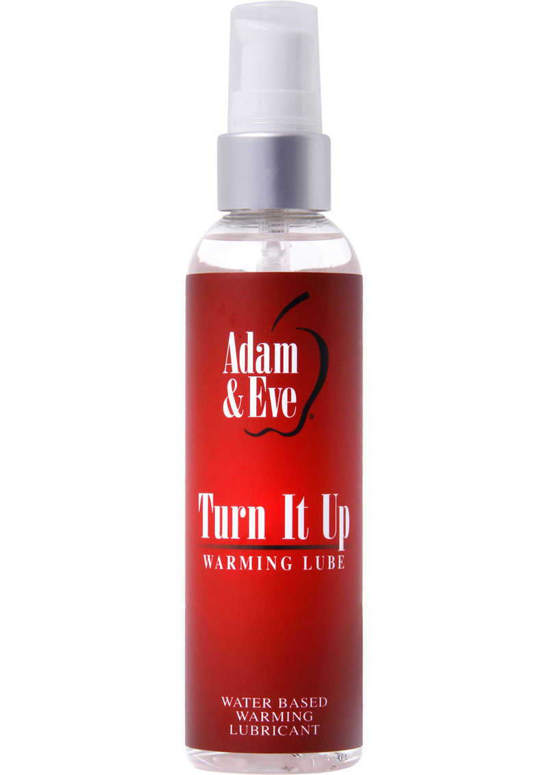 Adam And Eve Turn It Up Warming Lube Water Based 4 Ounce
