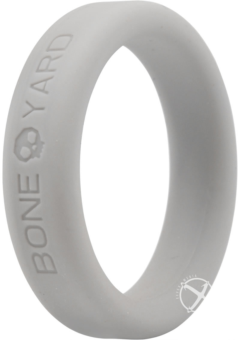 Bone Yard Silicone Ring Cockring Grey 1.6 Inch Diameter